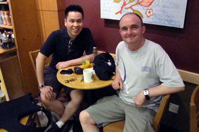 Kevin and I at Starbucks, Holland Village, Singapore