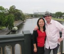 John Larkin and his wife Shao Ping in Melbourne
