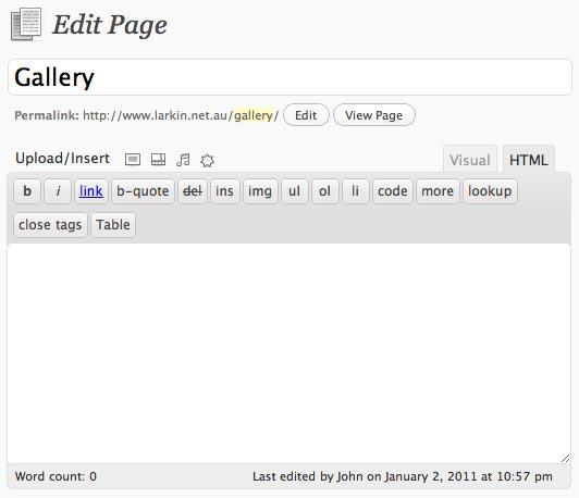 Edit Page Field