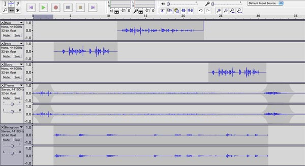 Audacity sound editing software