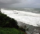 Massive surf at North Wollongong Beach