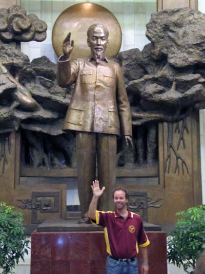 Cameron Paterson with Ho Chi Minh