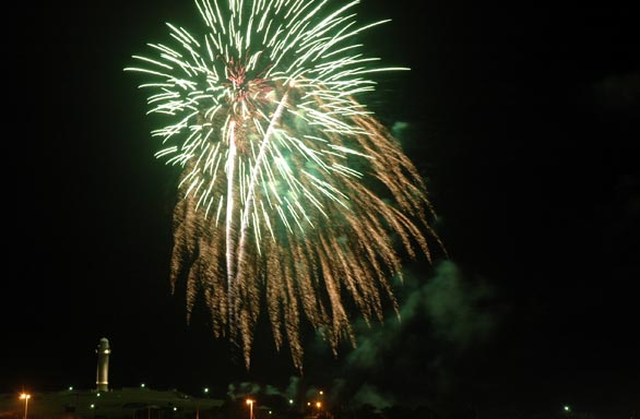 Happy New Year ~ fireworks over Wollongong Harbour