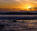 Sunrise at North Wollongong Beach, NSW.