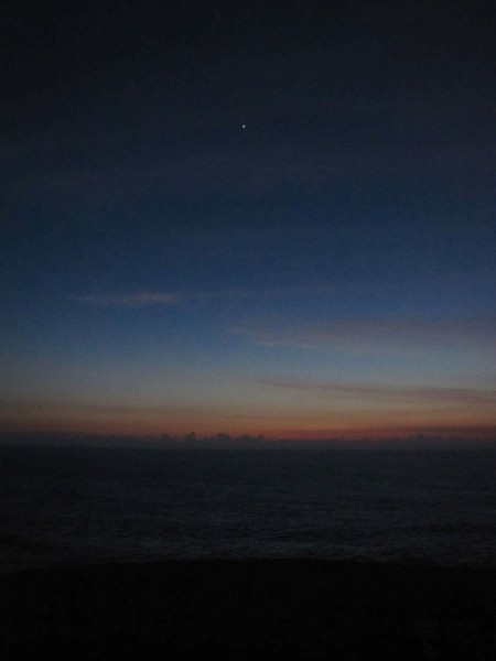 Approaching dawn with Venus abroad