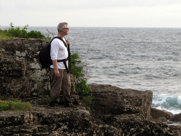 Darcy surveys the coast of Kiama