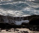 Coastal rock platform Kiama NSW