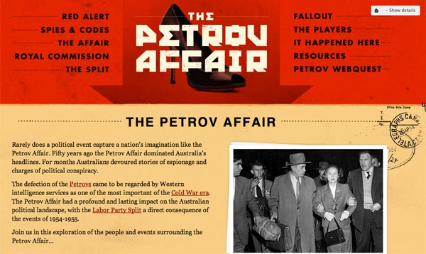 Petrov Affair Web Site