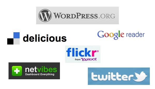 Web based tools collage