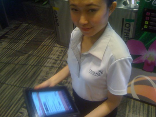 iPad used by staff at Changi AIrport Singapore