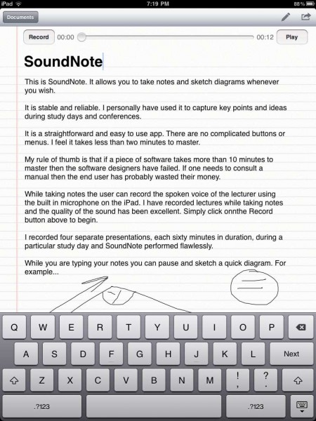SoundNote iPad App