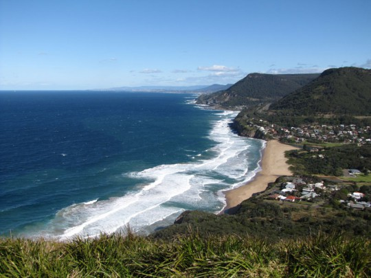 The Illawarra coastline looking south from Bald Hill