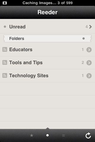 Reeder on the iPhone