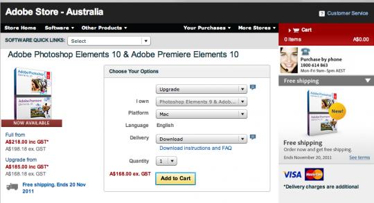 Adobe Australia Price