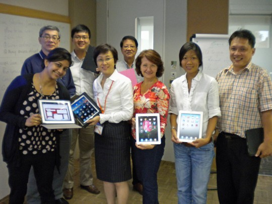 The participants at the IAL iPad workshop