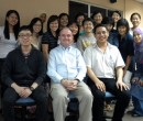 John Larkin with participants from his CELT workshops at NTU Singapore 2011