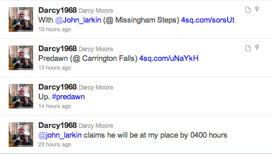 Twitters from @darcy1968