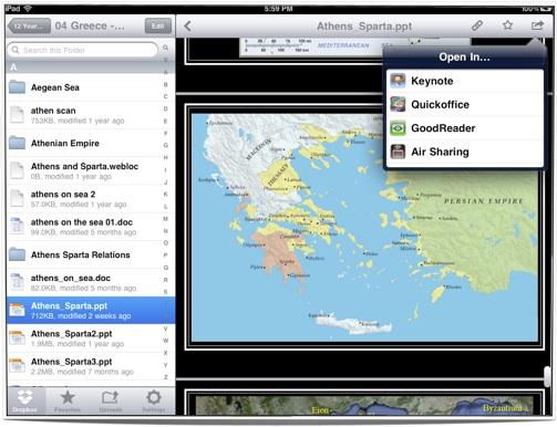 DropBox iPad App