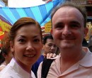 John Larkin with Kym Ng in Chinatown