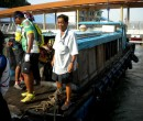 The bumboat at the jetty at Pengerang, Malaysia