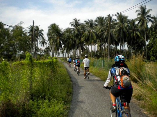 Riding through southern Johor, Malaysia