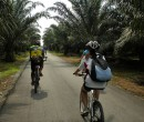 Riding through southern Johor Malaysia