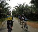 Riding through southern Johor Malaysia