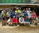 John Larkin and the entire team of bike riders from Singapore during a lunch break in Malaysia