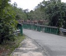 One of the roads and bridges on Pulau Ubin