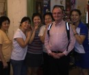 John Larkin and the friendly staff at the Wan Tang Eating House in Singapore