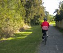 Riding through Bellambi towards east Corrimal