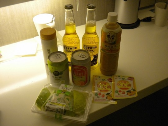 Purchases made in a 7-11 store in Taiwan