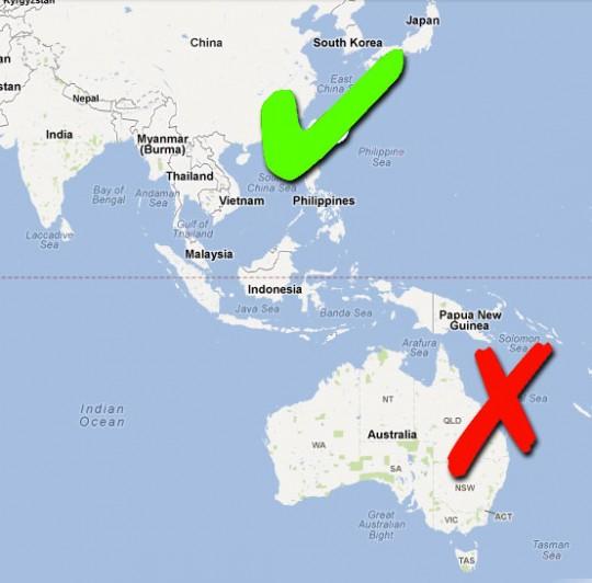 Australia versus Asia