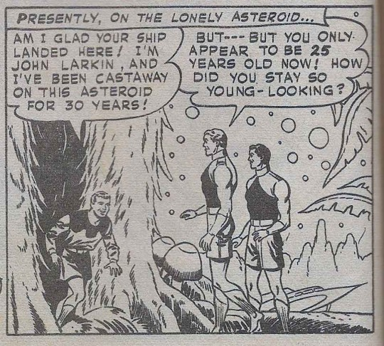 Tommy Tomorrow John Larkin is discovered on the asteroid