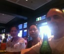 Ya Nan, Shao Ping and John Larkin at Newtown Hotel