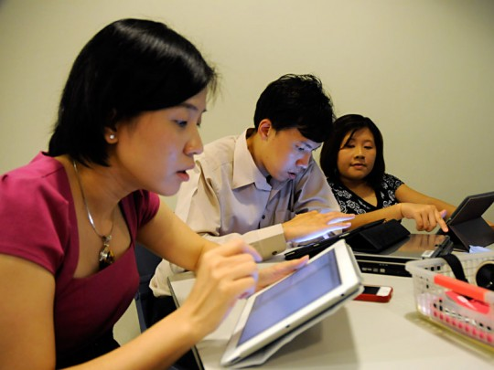 Participants at John Larkin's iPad in Education Workshop NYGH Singapore