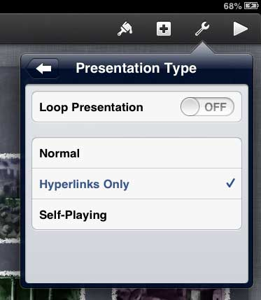 iPad Keynote hyperlinks