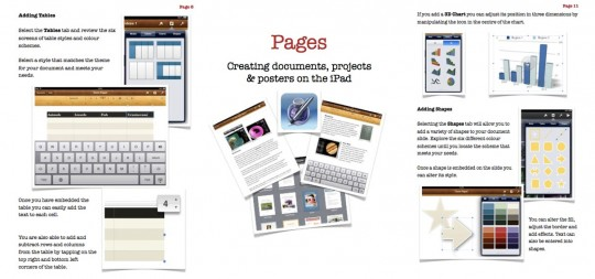 Pages App Guide Screen Shots