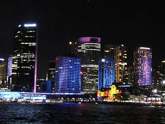 Sydney buildings illuminated