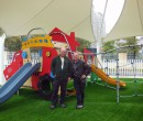 Brian Lockwood and myself in a real playground!