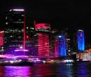 Sydney CBD during Sydney Vivid Festival