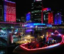 Circular Quay during Sydney Vivid Festival