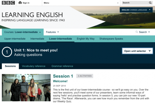BBC Learning English Site