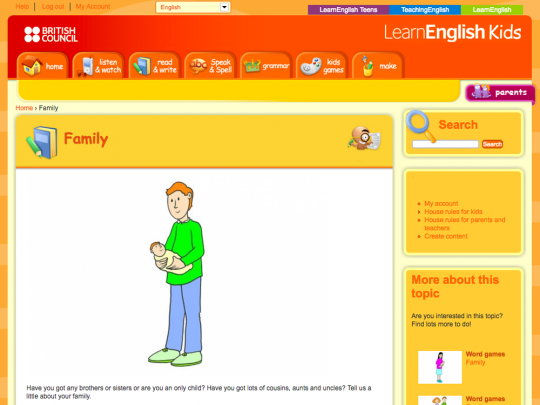 British Council Learn English Kids Family