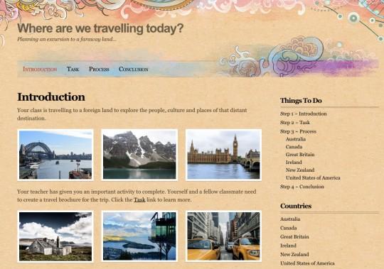 webquest screen shot